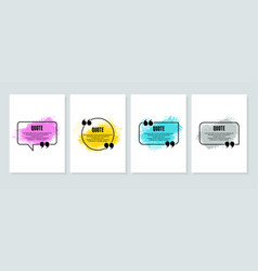 quote box frame big set quote box icon texting vector image