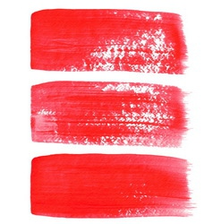 Red ink brush strokes vector image
