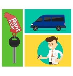 Rental car banners vector image