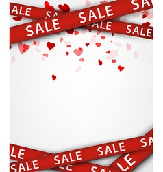 Sale background with hearts vector image