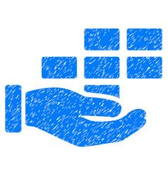 Schedule service hand grunge icon vector