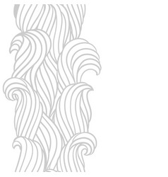 seamless wave pattern background with sea river vector image