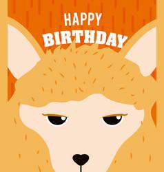 Sheep happy birthday card vector