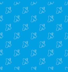 Smallpox virus pattern seamless blue vector