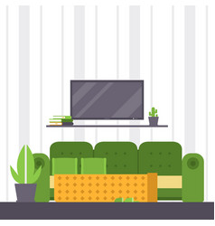 sofa furniture couch seat furnished vector image