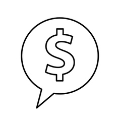 Speech bubble with money symbol vector