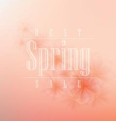 Spring background design vector image