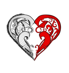 Tattoo heart vector