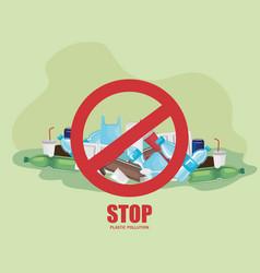 Toxic plastics waste contamination environment vector