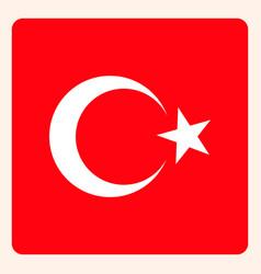 turkey square flag button social media vector image