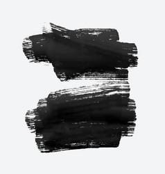 Two black grunge watercolor brush stroke vector