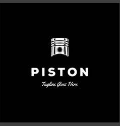 vintage retro piston car automotive workshop vector image