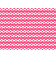 white hearts on pink background pattern vector image
