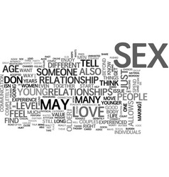 why sex is different for those over text word vector image vector image