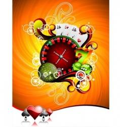 illustration on a casino theme vector image
