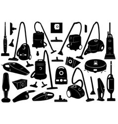 Set of different vacuum cleaners vector