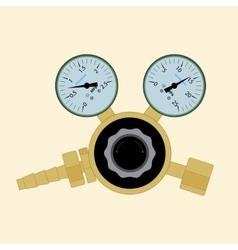 Pressure regulator for welding vector image