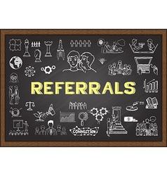 Referrals on chalkboard vector