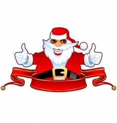Santa and banner vector image vector image