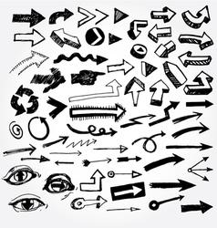 big set of arrows vector image vector image