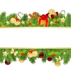 christmas template with fir vector image vector image