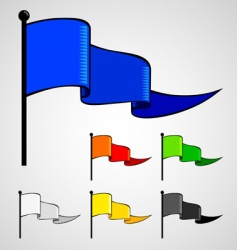 color flag vector image vector image