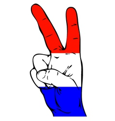 Peace Sign of the Dutch flag vector image vector image