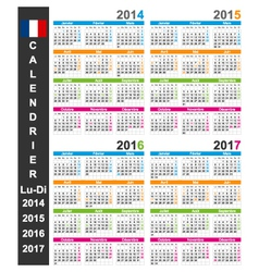 Calendar 2014-2017 vector image