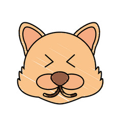 cute wolf drawing animal vector image vector image