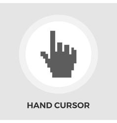 Hand cursor flat icon vector