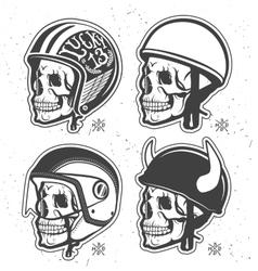 Helmets set vector image
