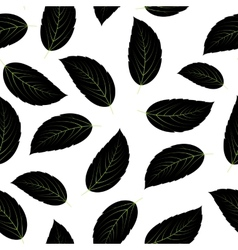 Leaves Seamless Pattern Background vector image