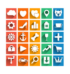25 web icons set vector image