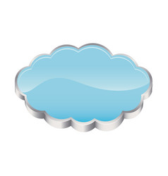 3d realistic cloud in cumulus shape vector