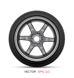aluminum wheel car tire style racing vector image