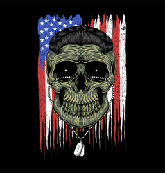 American army skull head vector