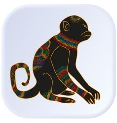 Anima monkey color vector image