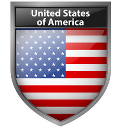 Badge design for united states of america flag vector