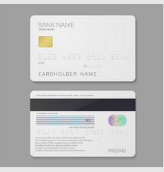 Bank credit card template vector