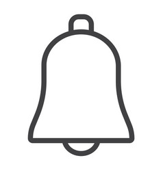 bell line icon web and mobile ring sign vector image
