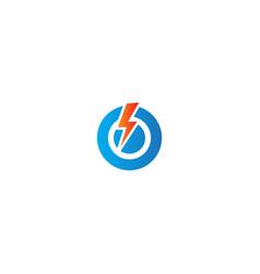 bolt electric voltage thunder logo vector image