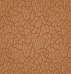 Brown seamless leather pattern vector