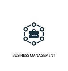 Business management icon simple element vector