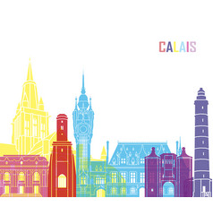 Calais skyline pop vector