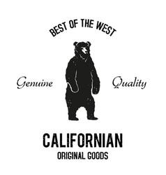 Californian goods logo vector