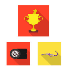 car and rally icon set of vector image