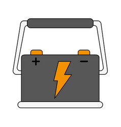 car battery icon image vector image