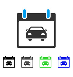 Car calendar day flat icon vector