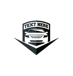 car shield icon logo template vector image