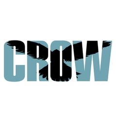 Crow sign vector image